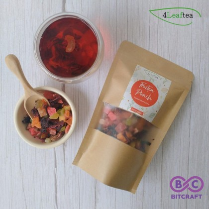 4Leaftea Fruitea Punch Premium Mixed Fruit Tea 150g Flower Tea Floral Tea