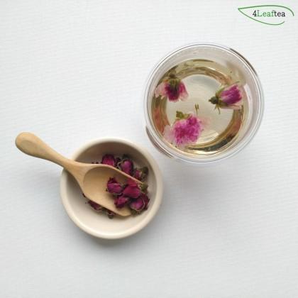4Leaftea Rosy Passion Premium Rose Bud Flower Tea Calming Natural Rosebud Herbal Tea for Healthy Skin Reducing Stress 50g