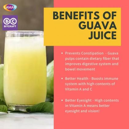 LAMAR Guava Juice Drink 1L Less Sugar Imported From Egypt No Preservatives Jus Jambu Batu Kurang Gula Tanpa Pengawet Fruit Juice Jus Buah Bitcraft