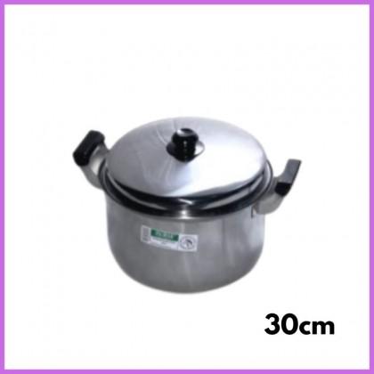 HORSE Stainless Steel  Double Handle Pot Soup Sauce Maggie Milk Pot Stew Braised Pot 28cm 30cm Periuk Sup Keluli Bitcraft